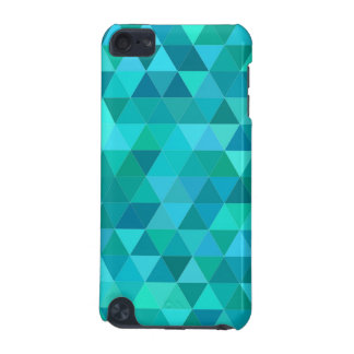 Teal triangle pattern iPod touch 5G cases