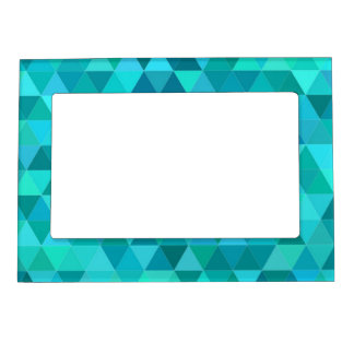 Teal triangle pattern magnetic frame