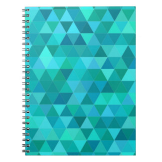 Teal triangle pattern notebook