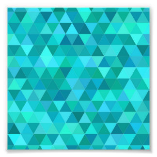 Teal triangle pattern photo