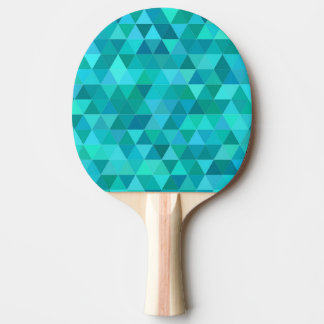 Teal triangle pattern ping pong paddle