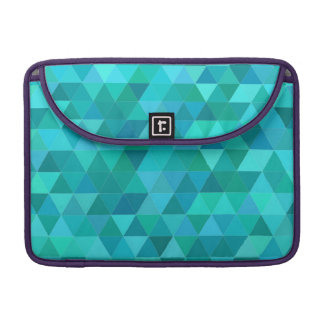 Teal triangle pattern sleeve for MacBooks