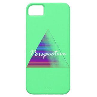 Teal Triangle Perspective iPhone Case Case For The iPhone 5