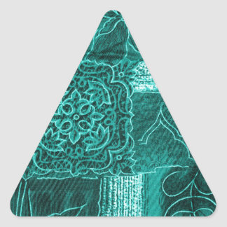 teal triangle sticker