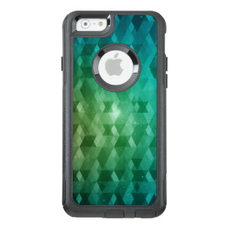 Teal Triangles in Space iPhone OtterBox Case