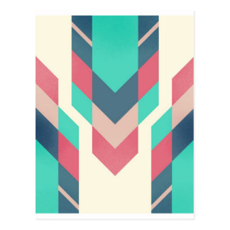 Teal tribal motif postcard