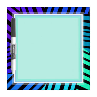 TEAL TURQUOISE BLUE ZEBRA PATTERN BOARD