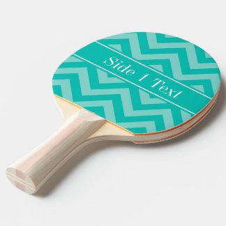 Teal Turquoise LG Chevron Teal Name Monogram Ping Pong Paddle