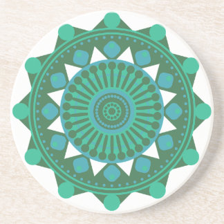 Teal Turquoise Mandala Coasters