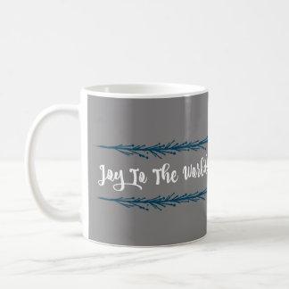 Teal Twigs Joy To The World Christmas Coffee Mug