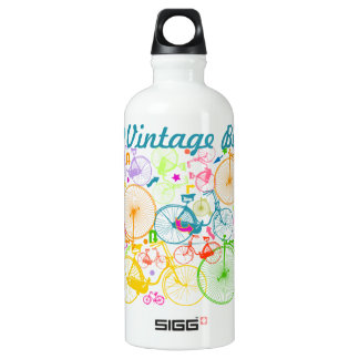 Teal Vintage Bike Bicycle Water Bottle
