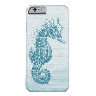 teal vintage seahorse iPhone 6 case Barely There iPhone 6 Case