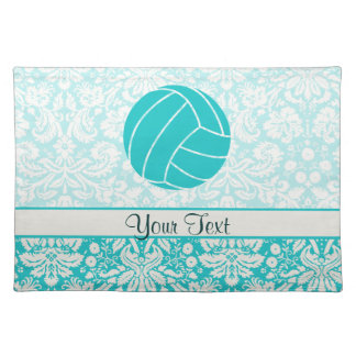 Teal Volleyball Place Mats