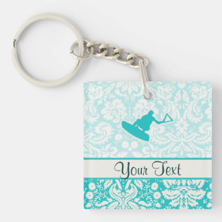 Teal Wakeboarder Key Chain