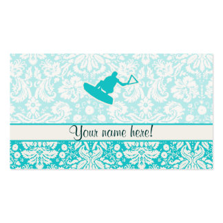 Teal Wakeboarder Pack Of Standard Business Cards