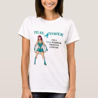 Teal Warrior T-Shirt Ovarian Cancer Design 2