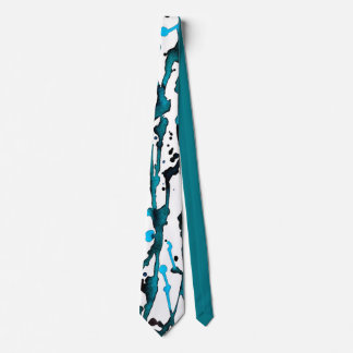 Teal Watercolor Abstract Necktie