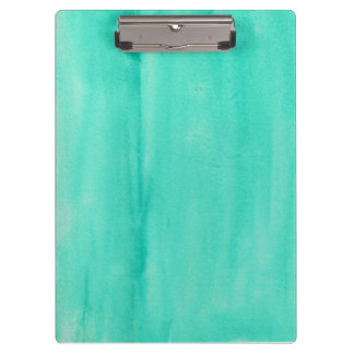 Teal Watercolor Clipboard