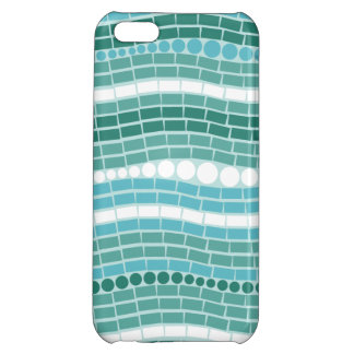 Teal Waves Aqua Turquoise Abstract Ocean Blue iPhone 5C Case