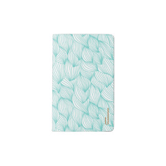 Teal Waves Monogrammed Moleskin Notebook