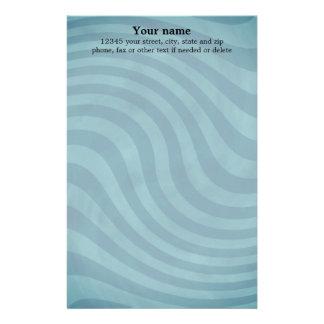 Teal wavy stripes stationery