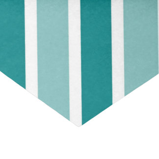 Teal, White, Blue Glossy Tissue Paper