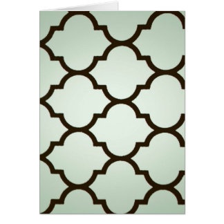teal white Moroccan Lattice Repeatable Pattern Cards