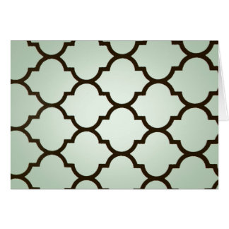 teal white Moroccan Lattice Repeatable Pattern Greeting Cards