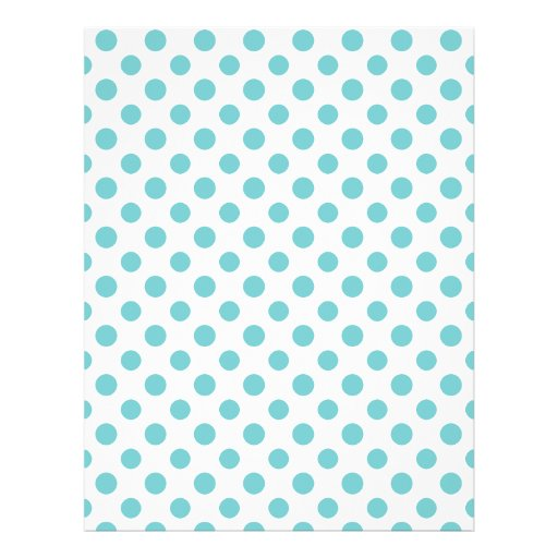 Teal White Polka Dots Pattern Flyer