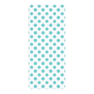 Teal White Polka Dots Pattern Invite