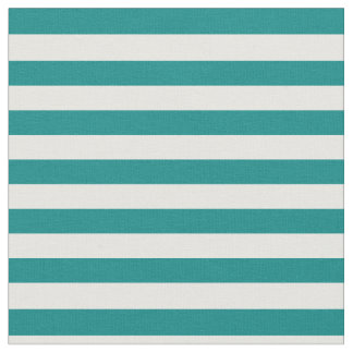 Teal & White Striped Fabric