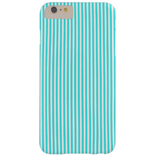 Teal White Vintage Girly Stripes Pattern Barely There iPhone 6 Plus Case