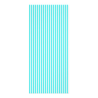 Teal White Vintage Girly Stripes Pattern Personalized Rack Card