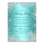 Teal Winter Wonderland Christmas Holiday Party 2 13 Cm X 18 Cm Invitation Card