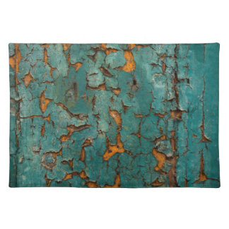 Teal & Yellow Peeling Paint Placemat