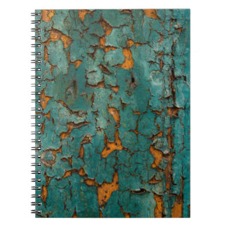 Teal & Yellow Peeling Paint Spiral Notebook