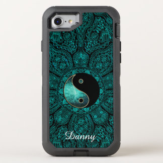 Teal Yin Yang Mandala Otterbox OtterBox Defender iPhone 8/7 Case