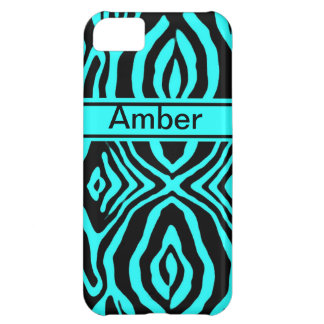 Teal Zebra Iphone4 case iPhone 5C Covers