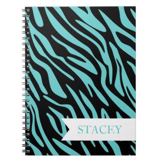 Teal Zebra Notebook