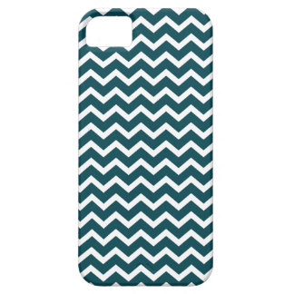 Teal Zig Zag Chevrons Pattern iPhone 5 Cases