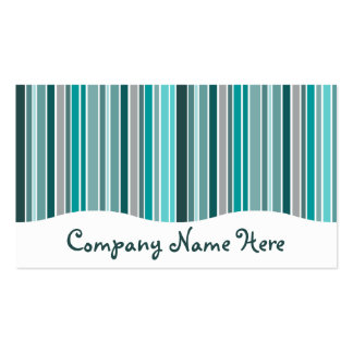 teals : striped curtain pack of standard business cards