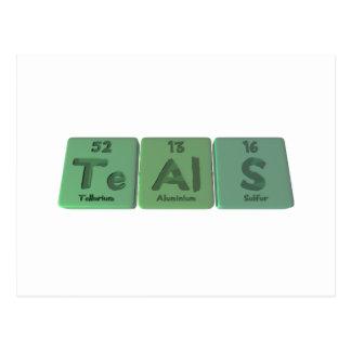 Teals-Te-Al-S-Tellurium-Aluminium-Sulfur.png Post Cards