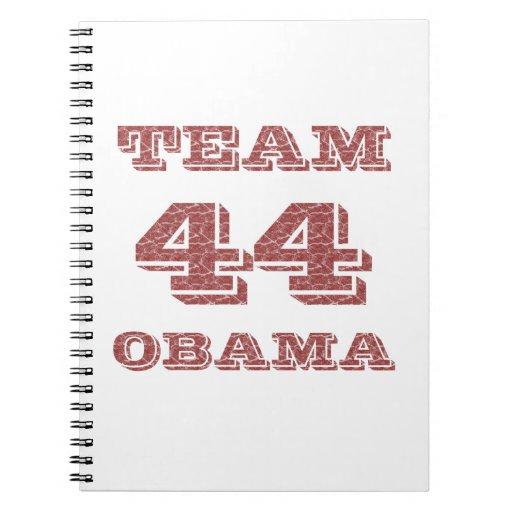 Team 44 Obama Spiral Notebooks