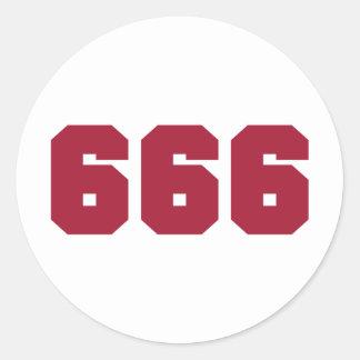 Team 666 round sticker
