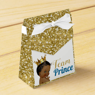 Team African Prince Gold Glitter Favor Tents Favour Box