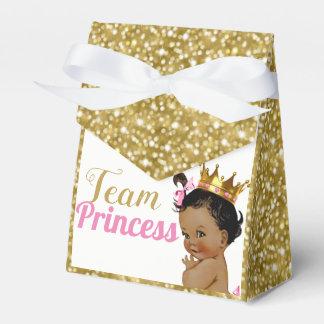 Team African Princess Gold Glitter Favor Tents Favour Box