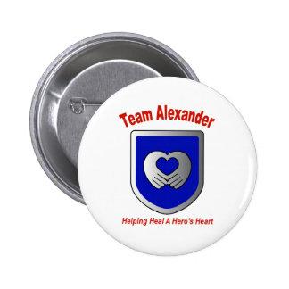 Team Alexander Pinback Buttons