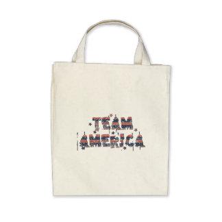 Team America US Vintage Grunge Burlap Torn Flag Canvas Bags