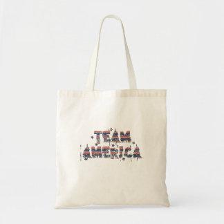 Team America US Vintage Grunge Burlap Torn Flag Tote Bags