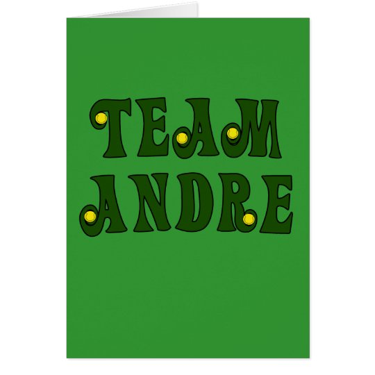 TEAM ANDRE with Tennis Details Tshirts Card